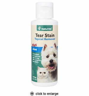NaturVet Tear Stain Remover for Dogs & Cats 4 oz