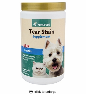 NaturVet Tear Stain Supplement Powder for Dogs & Cats 200 grams