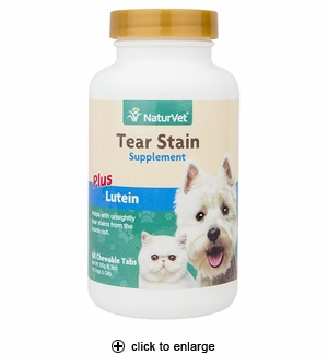 NaturVet Tear Stain Supplement Tablets for Dogs & Cats 60ct