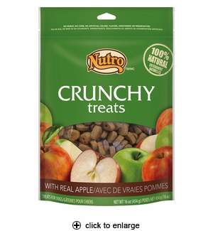 Nutro Crunchy Treats with Real Apple for Dogs 16oz