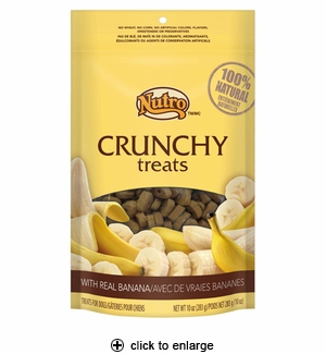 Nutro Crunchy Treats with Real Banana for Dogs 10oz