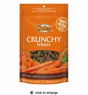 Nutro Crunchy Treats with Real Carrots for Dogs 10oz