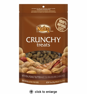 Nutro Crunchy Treats with Real Peanut Butter for Dogs 10oz