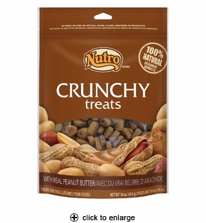 Nutro Crunchy Treats with Real Peanut Butter for Dogs 16oz