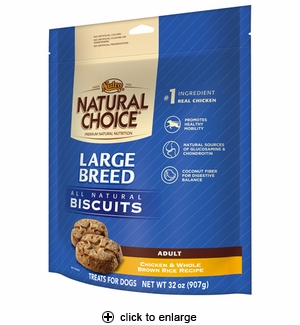 Nutro Natural Choice Lg Breed Chicken & Rice Dog Biscuits 32oz