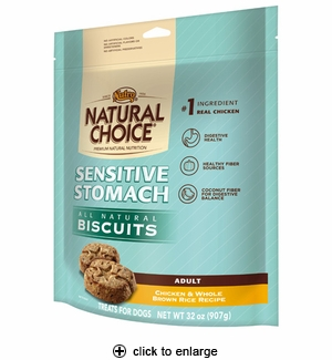 Nutro Natural Choice Sensitive Stomach Dog Biscuits 32oz