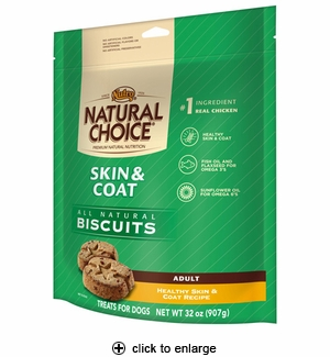 Nutro Natural Choice Skin & Coat Dog Biscuits 32oz