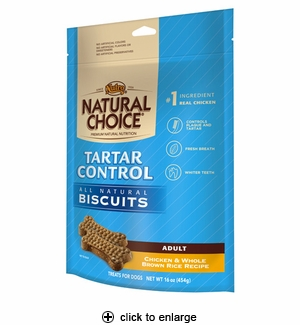 Nutro Natural Choice Tartar Control Dog Biscuits 16oz