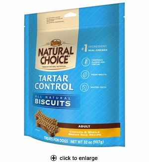 Nutro Natural Choice Tartar Control Dog Biscuits 32oz
