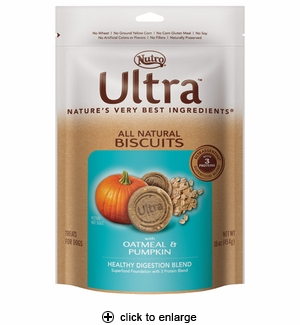 Nutro Ultra Oatmeal & Pumpkin Dog Biscuits 16oz