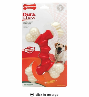 Nylabone Dura Chew Double Bone Bacon Souper