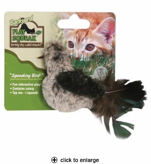 Our Pet's Play-N-Squeak Backyard Squeaking Bird Cat Toy