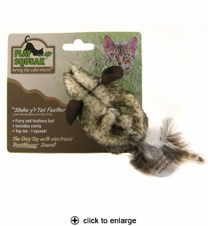 Our Pet's Play-N-Squeak Shake y'r Tail Feather Cat Toy