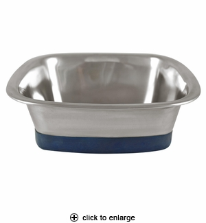 Our Pet's Stainless Steel Square Dog Bowl Large