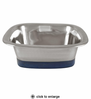 Our Pet's Stainless Steel Square Dog Bowl Medium