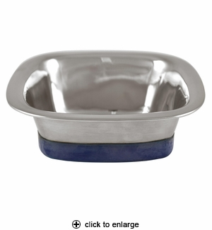 Our Pet's Stainless Steel Square Dog Bowl Small