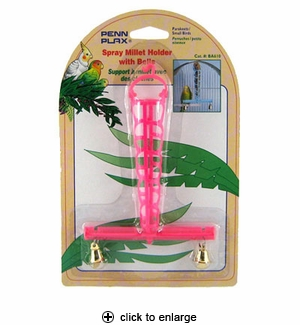 Penn-Plax Spray Millet Holder w/Bells #BA-610