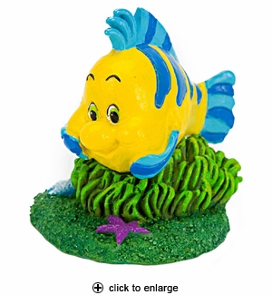 Penn-Plax The Little Mermaid Flounder Aquarium Ornament