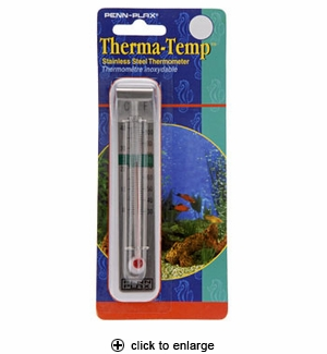 Penn-Plax Therma-Temp Stainless Steel Thermometer #T-SS