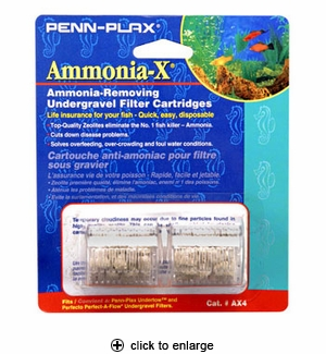 Penn-Plax Undertow Ammonia-X Undergravel Filter Cartridge 2pk. #AX-4