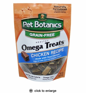 Pet Botanics Omega Treats for Dogs Chicken 5oz