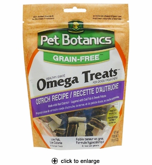 Pet Botanics Omega Treats for Dogs Ostrich 5oz