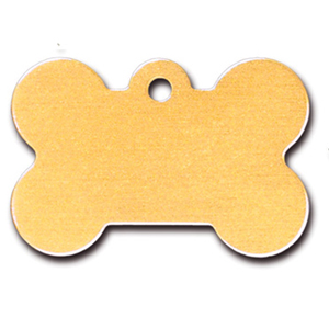 Pet ID Tag - Bone Mustard