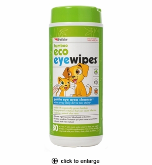Petkin Bamboo Eco Eye Wipes 80ct