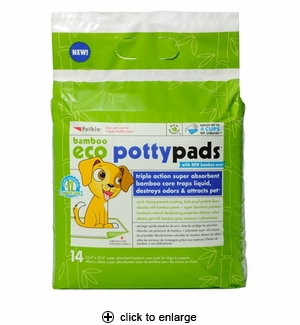 Petkin Bamboo Eco Potty Pads for Dogs 14ct