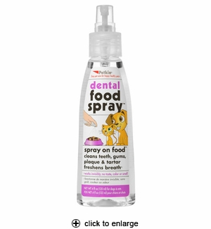 Petkin Dental Food Spray for Dogs & Cats 4oz