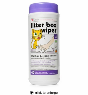Petkin Litter Box Wipes 40ct