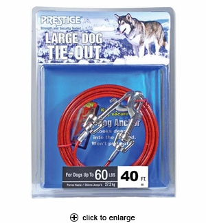 Prestige Large Dog Tie-Out 40 ft.