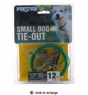 Prestige Small Dog Tie-Out 12 ft.
