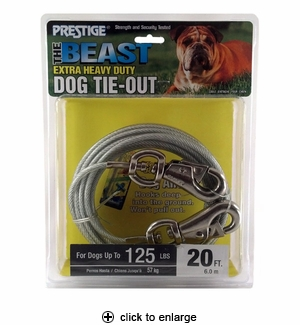 Prestige The Beast Dog Tie-Out 20 ft.