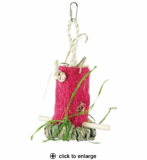 Prevue Tropical Teasers Shreddable Shack Bird Toy
