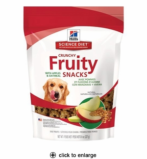 Science Diet Fruity Snacks with Apples & Oatmeal 8oz