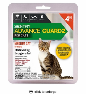 Sentry Advance Guard 2 for Medium Cats 5-9 lbs, 4pk