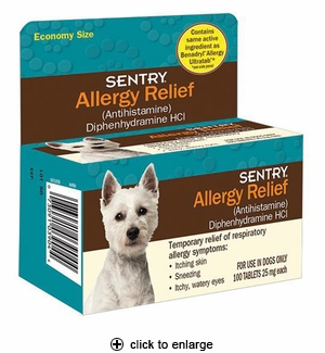 Sentry Allergy Relief Tablets for Dogs 100ct