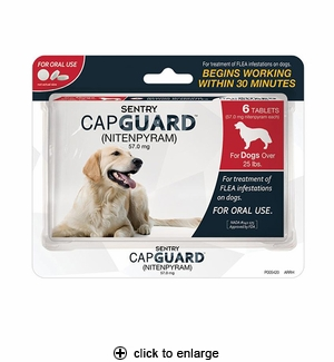 Sentry CapGuard Oral Flea Tablets for Dogs over 25 lbs, 6ct