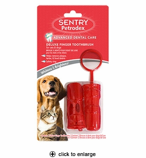 Sentry Petrodex Deluxe Finger Toothbrush for Cats & Dogs