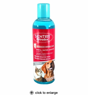 Sentry petrodex dental water additive for cats dogs 16oz for Dog dental water additive