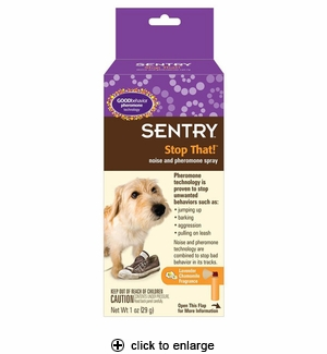 Sentry Stop That! Noise & Pheromone Spray for Dogs 1oz