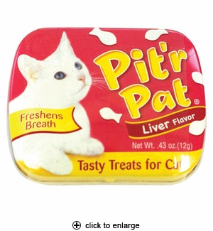 Sergeant's Pit'r Pat Cat Treats Liver Flavor 0.43 oz