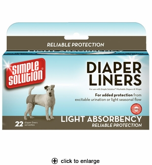 Simple Solution Diaper Liners Light Absorbency 22pk
