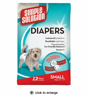 Simple Solution Disposable Dog Diapers Small 12pk