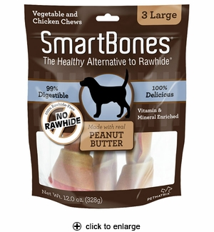 SmartBones Peanut Butter Dog Chew Large 3pk
