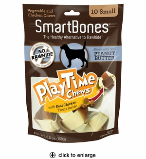 Smartbones Playtime Peanut Butter Dog Chew Small 10pk