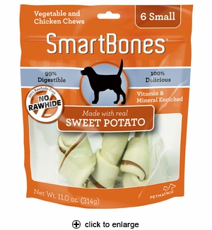 SmartBones Sweet Potato Dog Chew Small 6pk