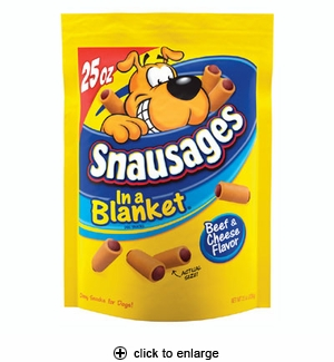 Snausages In a Blanket Beef & Cheese Dog Treats 25 oz