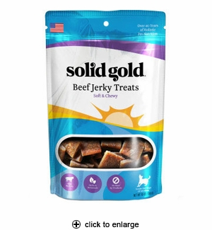 Solid Gold Beef Jerky Dog Treats 10 oz